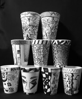 The Lost Sock : Creative Coffee Cups with Sharpie Marker