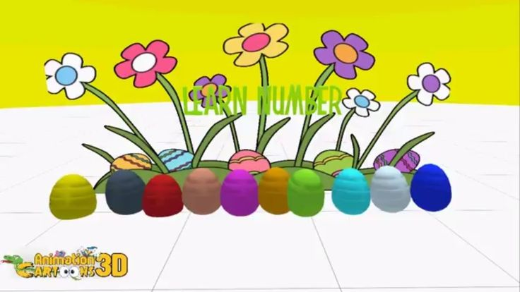 Learn Numbers & Colors for Kids Video With Surprise Eggs for Kids Toddle...