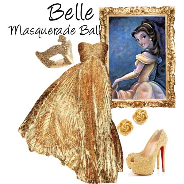 """Belle (Masquerade Ball)"" by idmiliris on Polyvore"