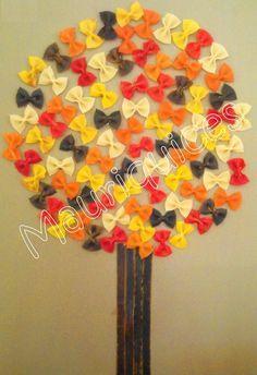 Pasta schilderen en dan een mooie herfstboom maken!