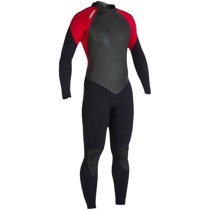 #surf Neoprenos y shortys - Traje de surf 100 4/3mm rojo Hombre