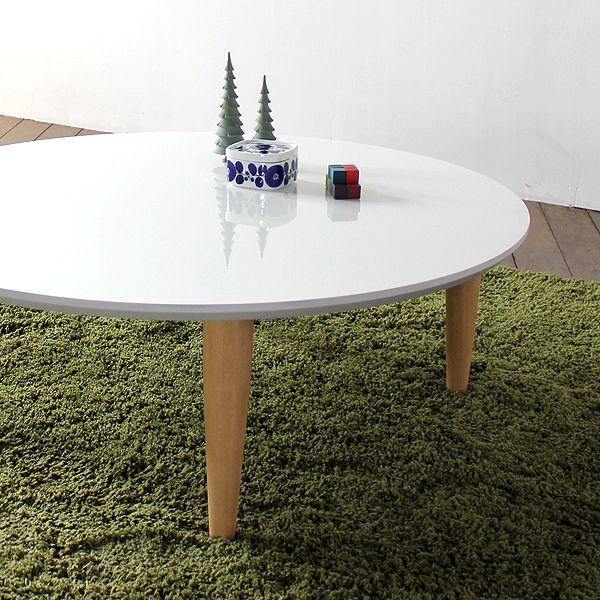ACA ローテーブル ホワイト 色