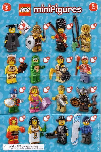8805: LEGO Minifigures Series 5 Checklist