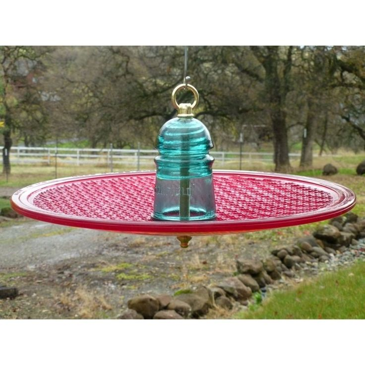 Hanging+traffic+light+bird+feeder+made+from+an+upcycled+traffic+light+lens,+and+a+glass+insulator. Please+allow+1-2+weeks+for+shipping.