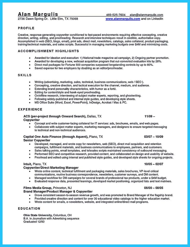 Best 25 Sales resume ideas – How to Write a Sales Resume