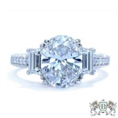 Blount Jewels 3.80 Cttw Oval Diamond Engagement Ring