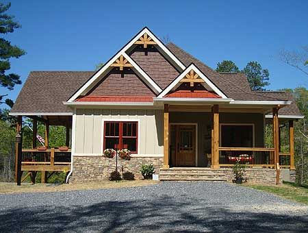 Totally in love with this house!!!!!!!!!! I could downsize and change the left porch into a carport. Perfect