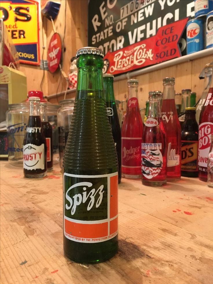 Vintage Spizz soda pop bottle full Pop bottles, Soda