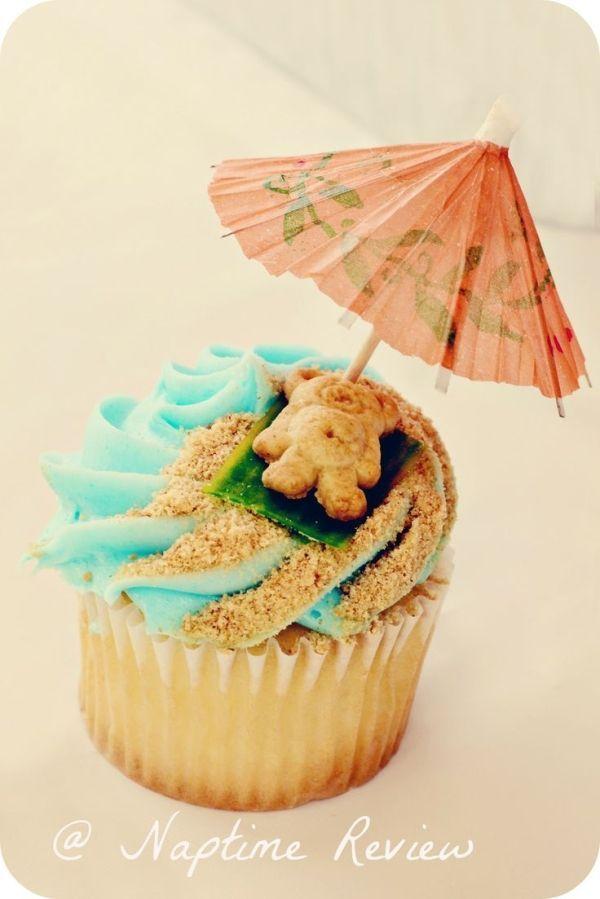 Bildergebnis für beach cupcakes