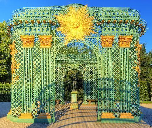 The Sanssouci Palace (Gitterpavillon), Potsdam, Brandenburg, Germany.