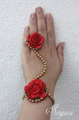 Rich Bridal Red floral jewelry | Jewels of sayuri