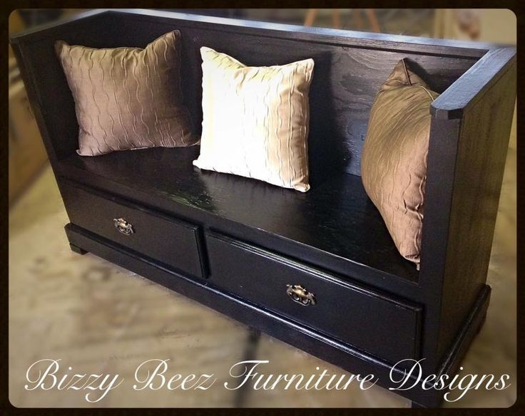 From Old Dresser to Bench Seat!