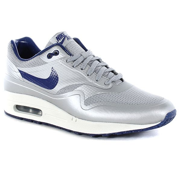 nike air max 1 hyperfuse qs shoes - matte silver-white metallic element
