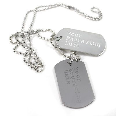 Personalised #engraved text #stainless #steel army dog tags id tag , View more on the LINK: http://www.zeppy.io/product/gb/2/162051626140/