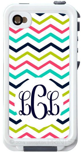 Monogrammed Lifeproof Case iPhone 4/4s or 5/5s by conniptionPRINTS