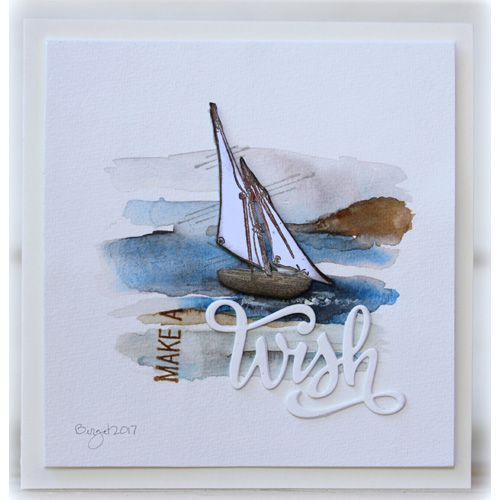 Serendipity Stamps Sail Boat and Make A stamps and Wish Die