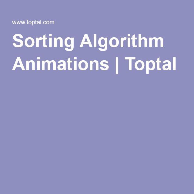 Sorting Algorithm Animations | Toptal