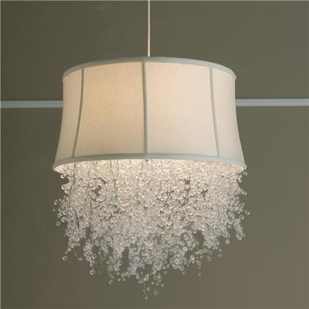 Dripping Crystal Shade Chandelier - A completely customizable chandelier, the acrylic crystal