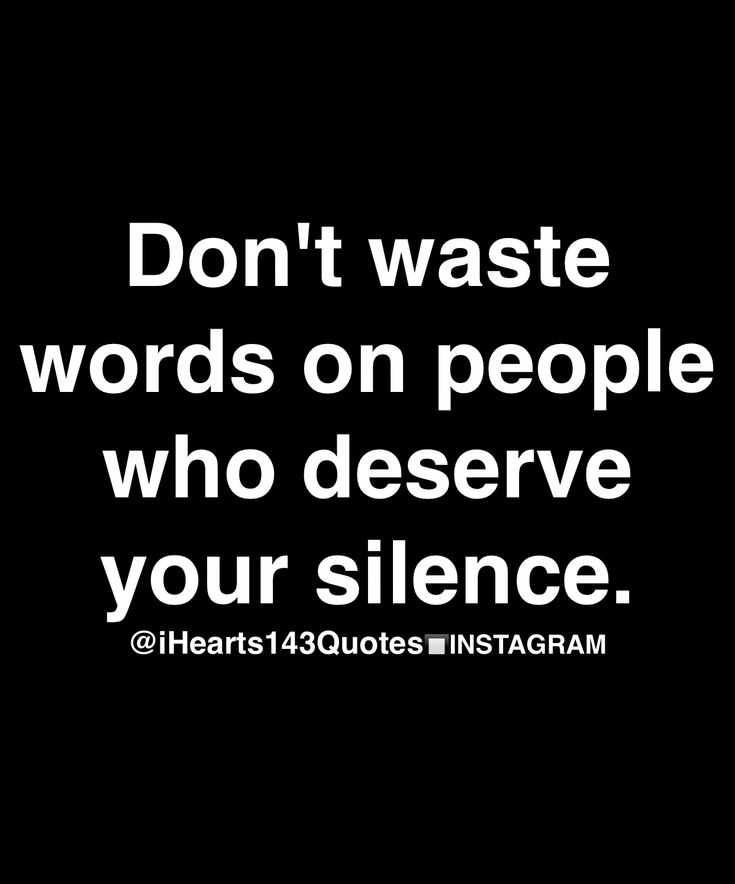 Silence hath it's own vocabulary