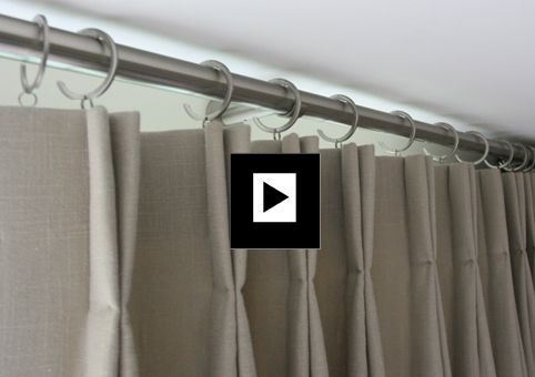 How to make bifold door curtains work seemlessly on a curtain pole spanning a 5 metre wide set of bifold doors.