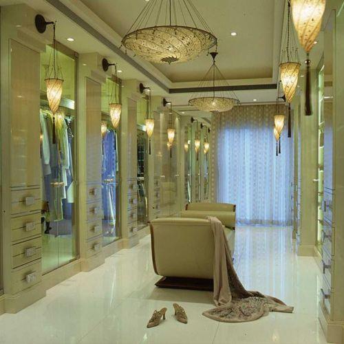 Closet - are we drooling yet?Decor, Ideas, Lights Fixtures, Dreams House, Dresses Room, Dreams Room, Mirrors Mirrors, Closets Spaces, Dreams Closets