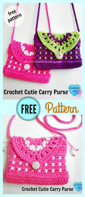 2017 05 fashion flowers to crochet - Cutie Free Crochet Carry Purse Pattern