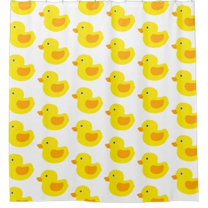 Yellow and Orange Baby Rubber Ducky for Kids Shower Curtain - baby gifts giftidea diy unique cute