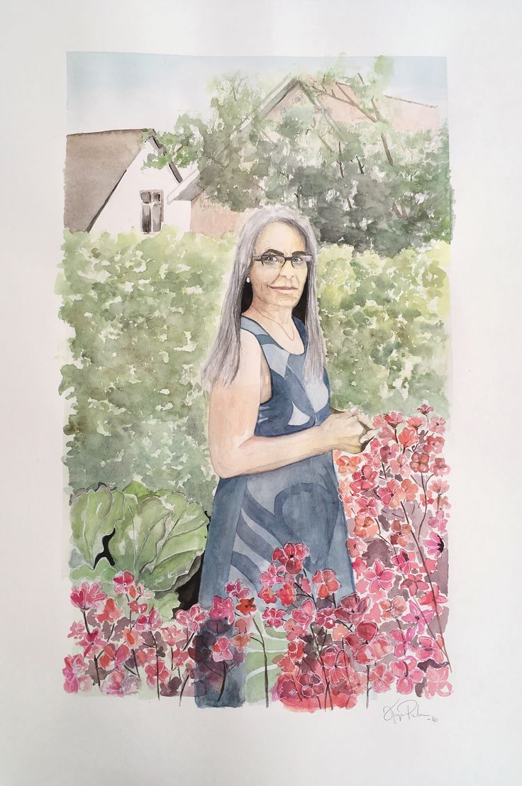 Mother, 70x100cm, watercolor ©Kajsa Li Paludan 2016