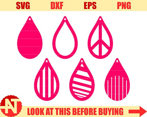 Download Tear drop SVG Pendant SVG Dangle earrings svg Leather ...
