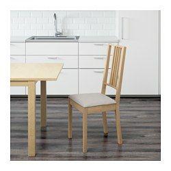 IKEA - BÖRJE, Sedia,  , , Sedile imbottito, per un comfort ottimale.La fodera è lavabile in lavatrice.Le gambe della sedia sono in legno massiccio, un materiale naturale resistente.