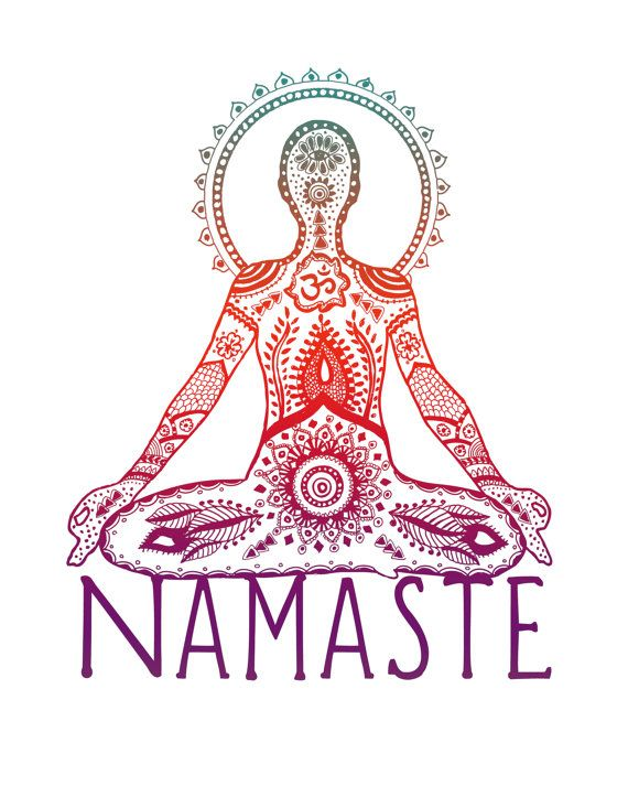 Yoga Art Print  8x10 Metallic Print Namaste Yogi by LeslieSabella, $20.00.. CHRISTMAS PLEASE!