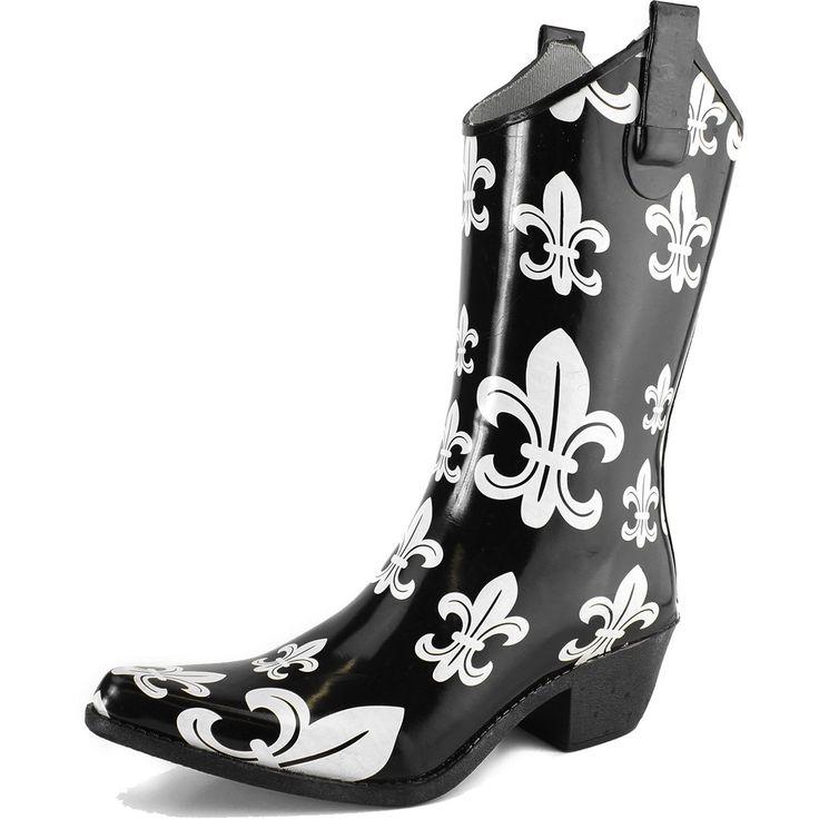 20182017 Boots Dailyshoe's Womens Western Cowboy Rainboots Mid Calf Rain Boots Footwear Shoes Online Shop
