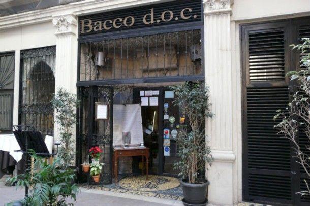 Bacco d.o.c., un lugar mitológico en el centro de Valencia.