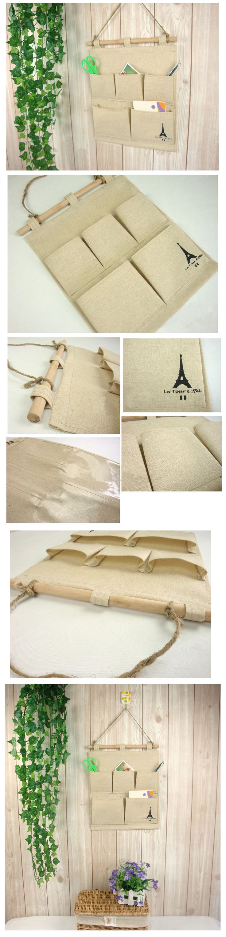 Zakka япония стиль натуральный лен хлопок башня шаблон в комплекте 5 карманы висит сумка многослойная ткань разное хранения сумки купить на AliExpress