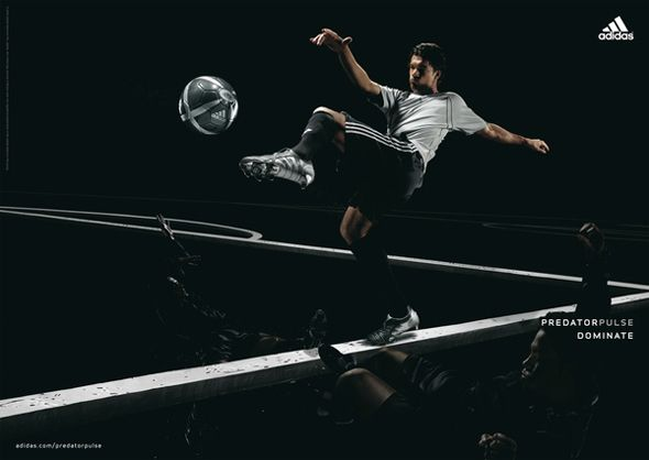 This is a print campaign for the Predator Pulse boot adidas released in The  idea was that football players who wore this boot had far better balance  than ...