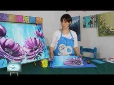 Técnica con espátula, acrílicos y texturas con gel medium - YouTube