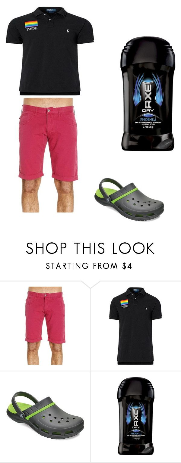 """""""oh boy....."""" by allybean331 on Polyvore featuring Armani Jeans, Ralph Lauren, Crocs, Axe, men's fashion and menswear"""