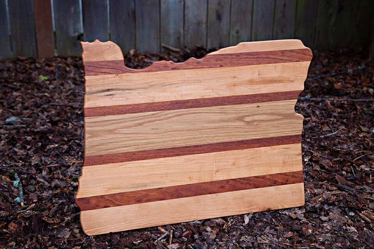 Custom cutting board made from reclaimed wood by Brian Dunn, owner of www.closedloopwoodworks.com