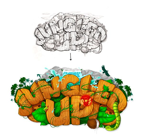 Jungled Up [ Game ] by Tamas Moroz, via Behance