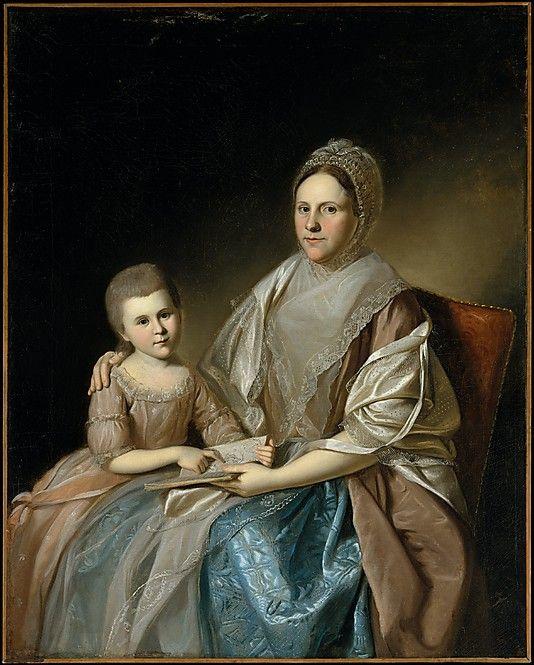 """Mrs. Samuel Mifflin and Her Granddaughter Rebecca Mifflin Francis"" by Charles Willson Peale (1777-1780) at the Metropolitan Museum of Art, New York"
