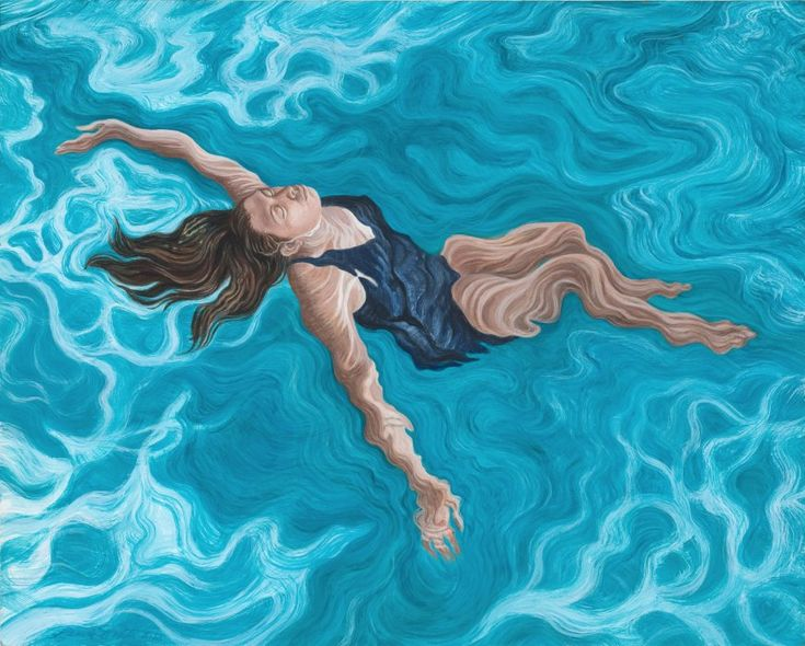 "Linda Smith, Adrift, 2012, acrylic on panel, 16"" x 20"" lindasmithart.com"