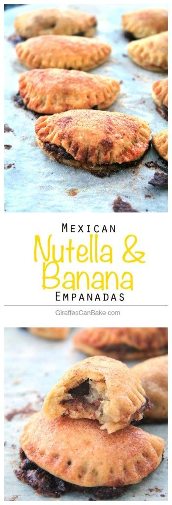 Mexican Nutella and Banana Empanadas, a sweet treat that you won't be able to resist from @giraffescanbake