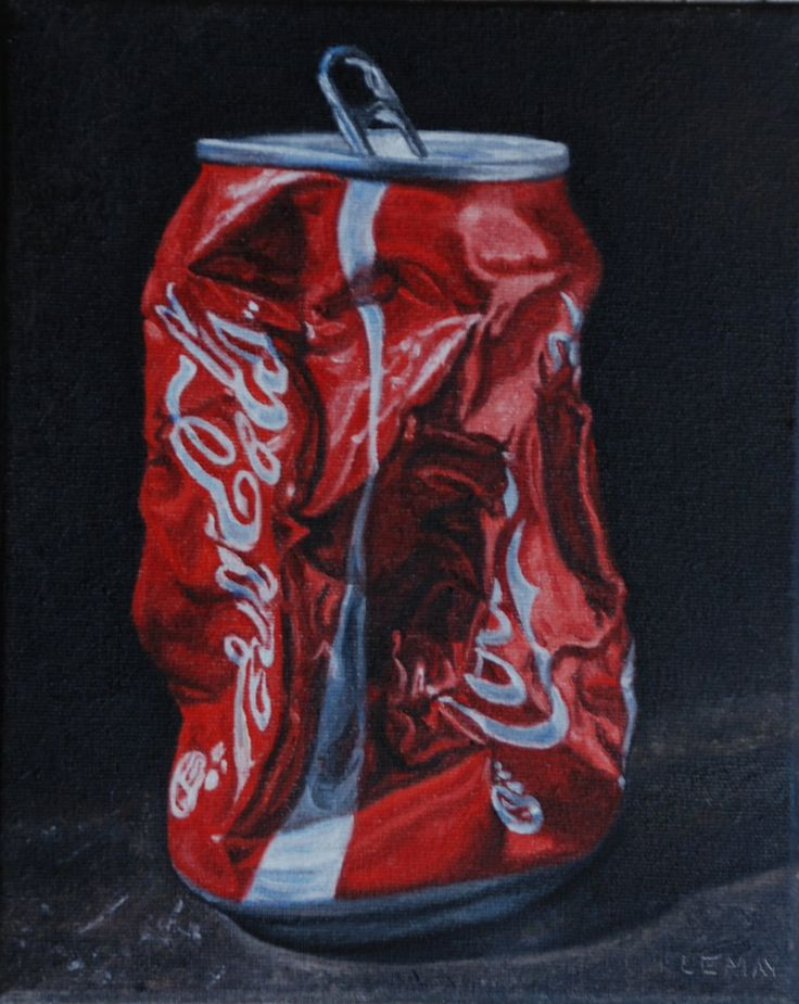 paintings crushed soda cans - Google Search
