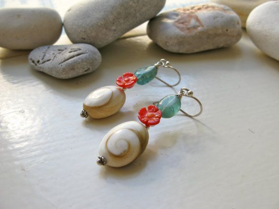 Eye of the Sea St. George long earrings
