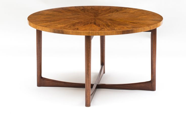 SCOTTISH WALNUT AND MAHOGANY LOW TABLE, BY A.H. MCINTOSH & CO., LTD., KIRKCALDY, SCOTLAND, 20TH CENTURY