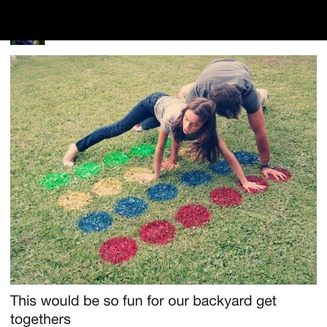 Twister on the Lawn!!!! So fun for a family cookout!