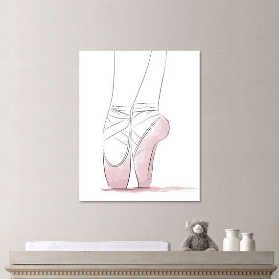 Girl Nursery Art  Ballerina Nursery Art  by RhondavousDesigns2, $10.00