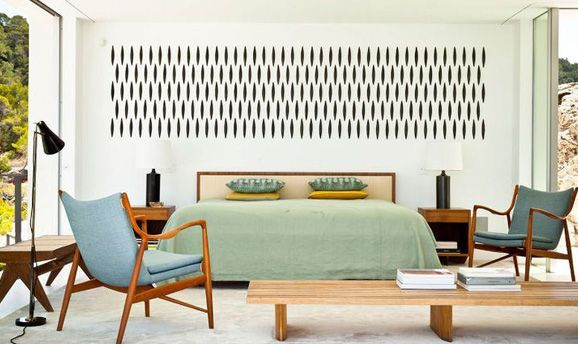 Trending: Mid Century Modern // A silent nod to the 1950's that emphasises clean and simple forms. The look is sculptural and bridges the man made and the organic.