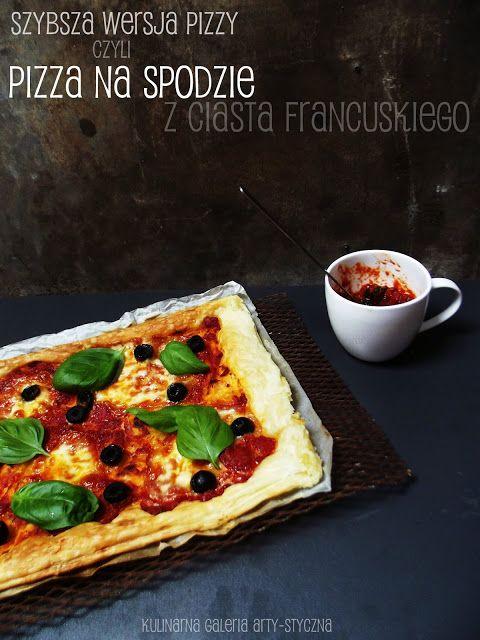 kulinarna galeria arty-styczna: Pizza na cieście francuskim
