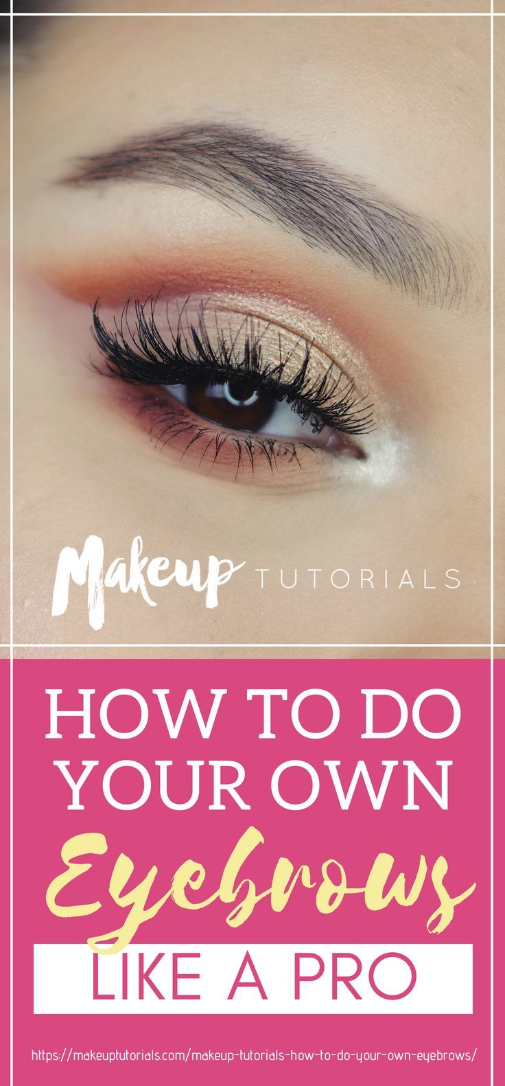 How To Do Your Own Eyebrows Like A Pro! [INFOGRAPHIC
